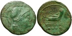 "Cr. 106/6a Anonymous ""staff and club"" series Æ Triens, 209-208 B.C., Etrurian mint"
