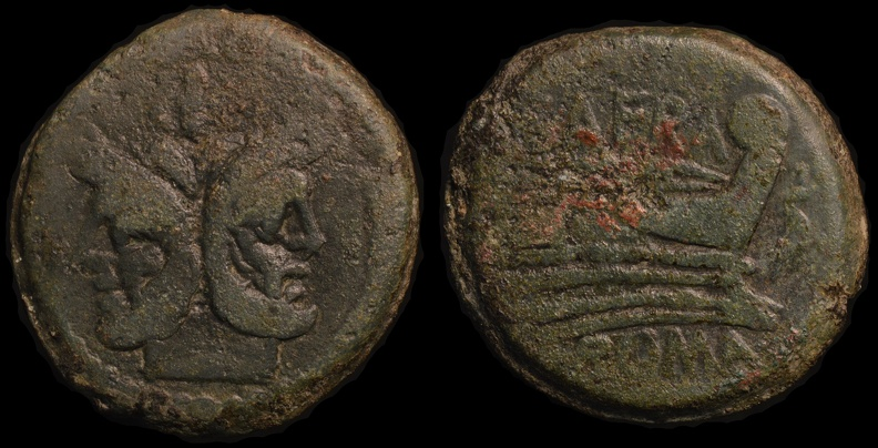 "Cr. 206/2 ""SAFRA""(Spurius Afranius?) series Æ as, 150 BC"