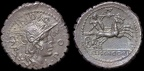 Cr. 282/4 L. Licinius Crassus, Cn. Domitius Ahenobarbus & associates AR denarius, 118 B.C., Narbo mint