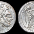 Cr. 70/1 Anonymous AR Victoriatus, Sicilian mint, 211-208 B.C.