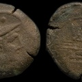 Cr. 137/6 Second crescent series Æ Sextans, 194-190 B.C. Rome mint
