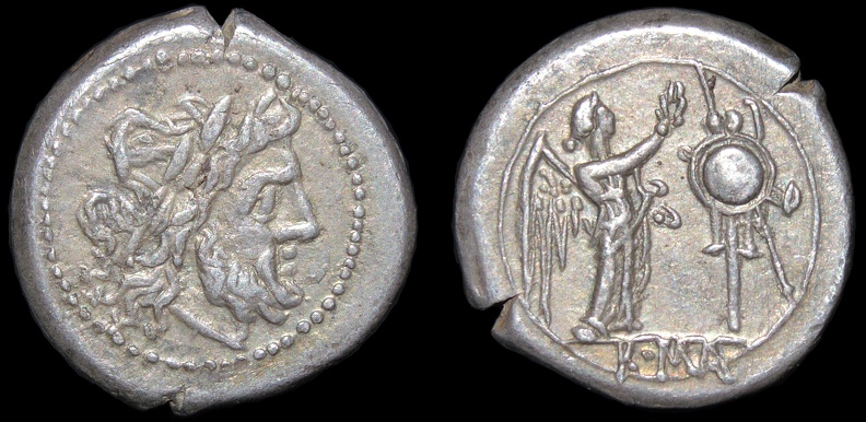 Cr. 53/1 Anonymous Victoriatus, after 211 B.C., Rome mint