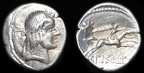 Cf. Cr. 408/1a - Good silver imitation of C. Calpurnius L.f. Piso AR denarius, after 61 B.C.