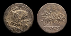 Cr. 44/6 Anonymous quinarius, after 211 B.C.