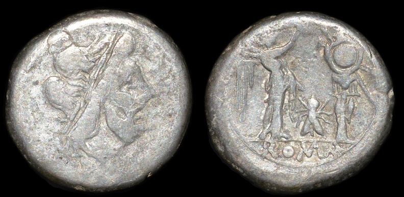 "Cr. 159/1 ""Fly series"" AR Victoriatus, 179-170 B.C."
