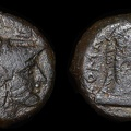 Cr. 17/1d Minerva/Horse's head Æ litra, Cosa mint, after 264 B.C.