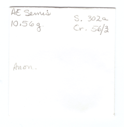 Cr. 56/3 anon semis RBW envelope