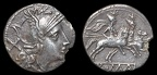 Cr. 68/1b Anonymous AR Denarius, 211-195 B.C., Sicilian mint