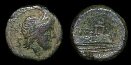 Cf. Cr. 106/5 Anonymous victoriatus, 209-208 B.C., Central Italian(Etrurian?) mint