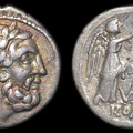 "Cr. 95/1a ""VB"" victoriatus, 211-208 B.C., uncertain mint(Traditionally, Vibo Valentia)"