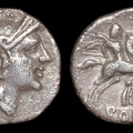 "Cr. 83/3 ""Spearhead-right"" quinarius, after 212 BC, Apulian(?) Mint"