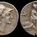 Cr. 287/1 anonymous AR denarius, 115 or 114 B.C., Rome mint