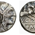 "Cr. 169/1 ""GR"" series AR denarius, 199-170 BC, uncertain mint"
