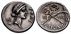 Cr. 440/1 Q Sicinius AR Denarius, early 49 BC, Rome
