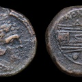 Cr. 132-150/- McCabe group J2 quadrans, 194-190 BC, Rome