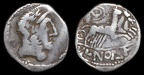 Imitative AR denarius, uncertain group, uncertain prototypes, circa 1st Century B.C.